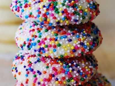 Vanilla Sugar Cookies With Sprinkles
